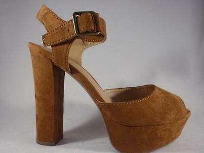 34455443c894 Women s CANDIES BASKIN Chestnut Brown Platform High Heel Dress Sandals  Shoes NEW