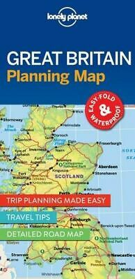 NEW Great Britain Planning Map By Lonely Planet Folded Sheet Map Free Shipping