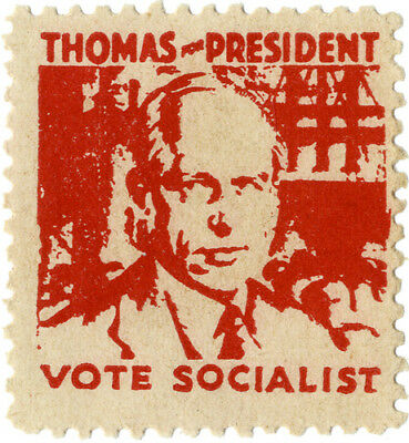 Scarce 1930s Norman THOMAS for PRESIDENT Socialist Campaign Seal (5304)