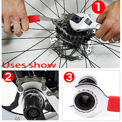 3 in1 Bicycle Chain Repair Freewheel Bike Whip Bottom Bracket Wrench Repair Tool