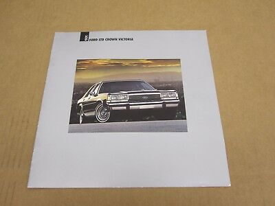 1991 Ford Crown Victoria LTD LX sales brochure dealer car auto literature