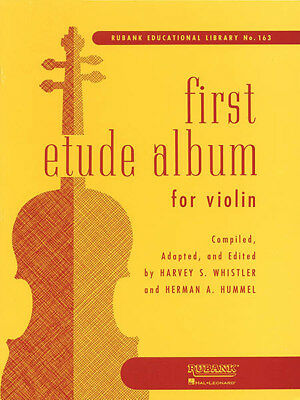 First Etude Album for Violin First Year Beginner Music Lessons Rubank Book NEW