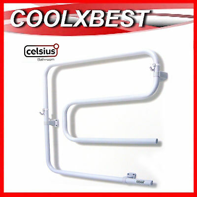 Celsius Electric Heated Towel Rail Rack Wall Mount White Bathroom Age Care Home