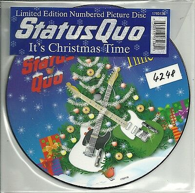 """Status Quo - It´s Christmas Time (2008) UK 7"""" numm PICTURE DISC> No 4243"""