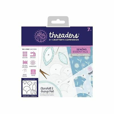 Crafters Companion Threaders Template Stencil - Clamshell & Orange Peel 7pc