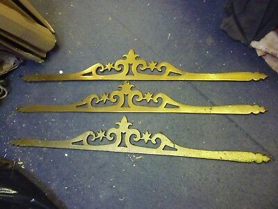 Good Lot Of Three Large Victorian Decorative Brass Appliques
