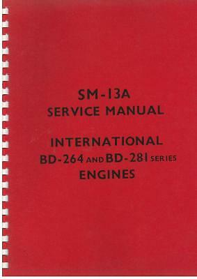 International Engine Bd264 Bd281 Workshop Manual In B450 Btd6 Bwd6 & Others
