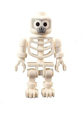 Lego X3 White Skeleton Mini Figure W// Thick Shoulder Pins,different Style Hands