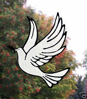 Dove Stained glass effect Window  Decor/cling