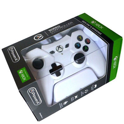 Microsoft Officially Licenced Power A XBox One/S/X Wired Controller - White NEW