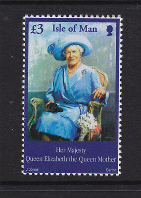 Isle Of Man 2002 Queen Mother £3 High Value U/mint