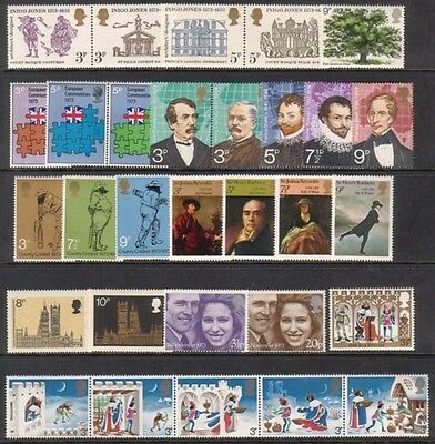 1973 Complete Commemorative Year Set ( 9 Sets ) Unmounted Mint