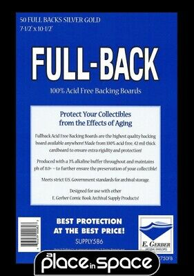 50 x SILVER GOLD SIZE FULL BACK COMIC BACKING BOARDS (SUPPLY586)