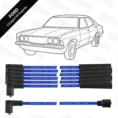 Double Silicon HT Lead Set for Ford Cologne V6 - Blue