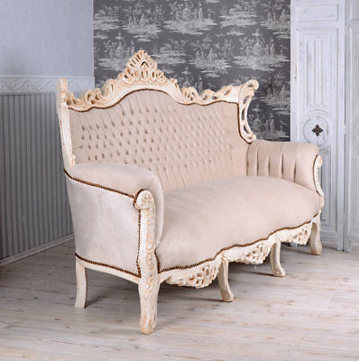 French Sofa Baroque Bench Royal Furniture Shabby Chic
