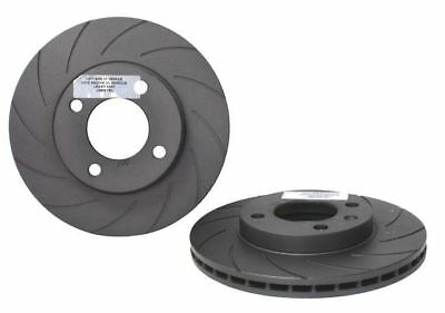 MK1 GOLF CABRIO Black Diamond Grooved Front Brake Discs 239x20mm - WC615KBD852G