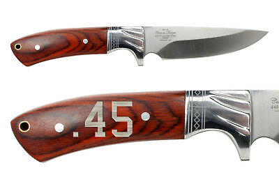 Elk Ridge Kinfe Hunting Fixed Blade Full Tang Wood ER-148 .45 Caliber
