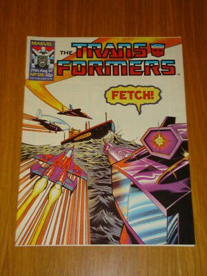 Transformers British Weekly #128 Marvel Uk Comic 1987
