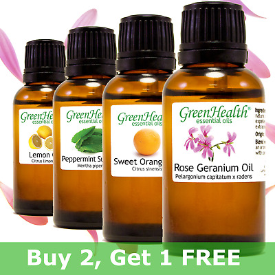 Green Health 30 mL (1oz) Essential Oils - Pure & All Natural - Aromatherapy