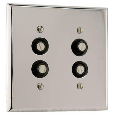 Signature Hardware Solid Brass Double Push Button Plate