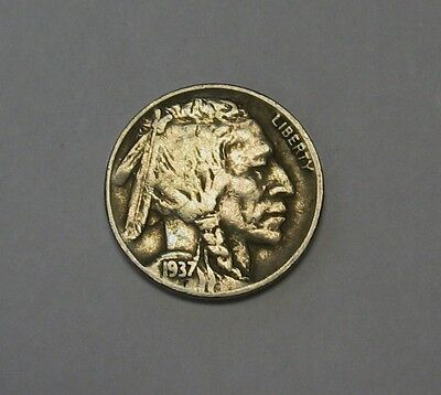 1937-D Buffalo Nickel Grading FINE to VF Nice Original Coins DUTCH AUCTION