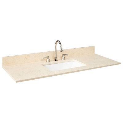 49 X 22 Marble Vanity Top For Rectangular Undermount Bathroom Sink