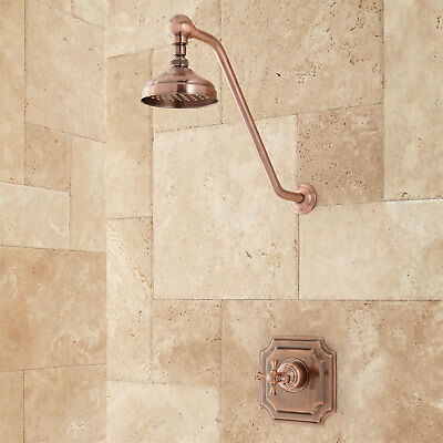 Signature Hardware Vintage Shower Set with Cross Handle