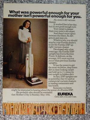 1981 Eureka Vacuum Cleaners - Vintage Magazine Ad Page - Mother's Day