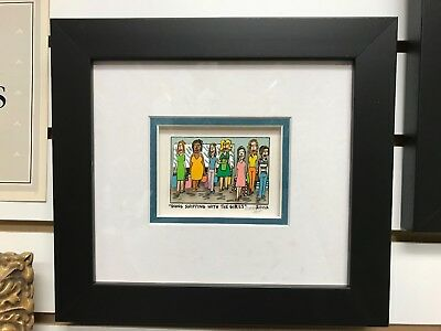"James Rizzi 3-D "" Going Shopping With The Girls "" Signed & Numbered 2002  Framed"