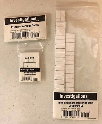 Pearson Investigations in Number, Data, and Space Grade 2 Cards Lot