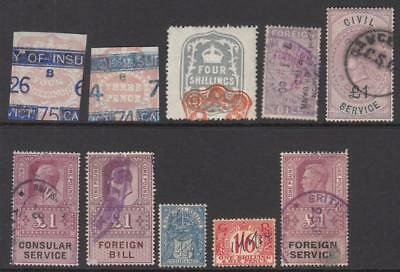 GB Revenues hi val selection 10 diff stamps Barefoot cv $27