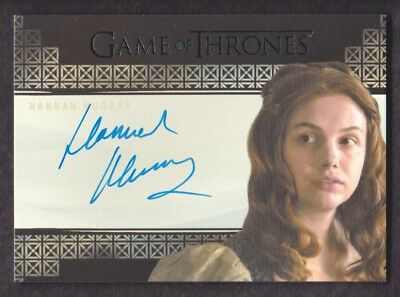 2017 Game of Thrones Valyrian Steel Autograph Hannah Murray as Gilly