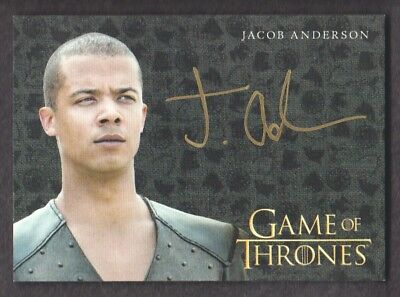 2017 Game of Thrones Valyrian Steel Gold Autograph Jacob Anderson as Grey Worm