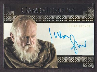 2017 Game of Thrones Valyrian Steel Autograph Julian Glover as Pycelle