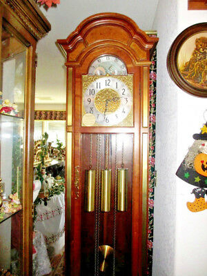 RARE Hard to Find Herschede Model 1525 Cherry Grandfather Clock KH