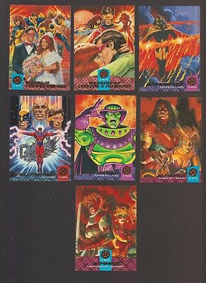 Lot of 7 Fleer 94 trading cards mesmero cyclops jean grey x-force