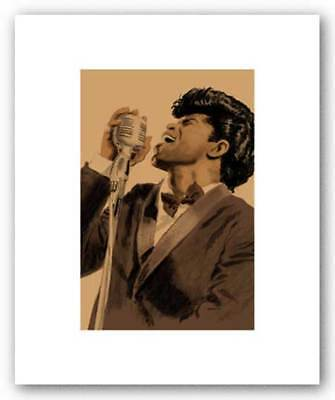 James Brown Pencil Signed Artist's Proof Giclee Clifford Faust Art Print 12x8