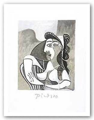 Woman On Armchair Pablo Picasso Art Print 29x21
