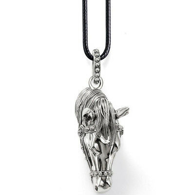 HORSE HEAD PENDANT Made in Germany LEATHER CHOKER Wonderful Gift!! HORSE LOVER!!