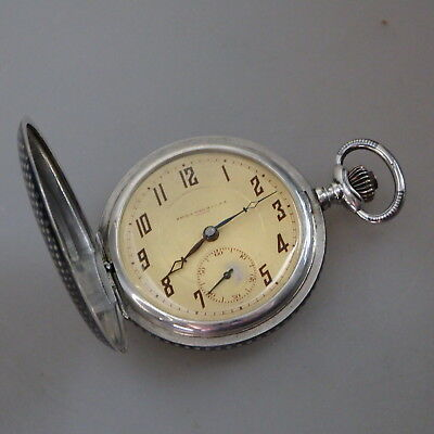 Savonette Herrentaschenuhr Havila Watch Co. Tula-Silber um 1910 (46284)