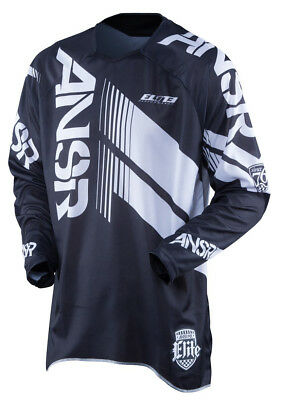 New Answer Elite Jersey MX ATV Black White