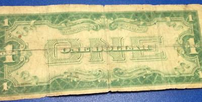 """1928A $1 Blue """"FUNNY BACK"""" SILVER Certificate X512 Old US Paper Currency"""