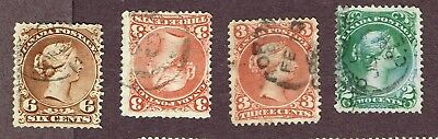 Canada Large Queens Dated Copies Fine  (Ovr1