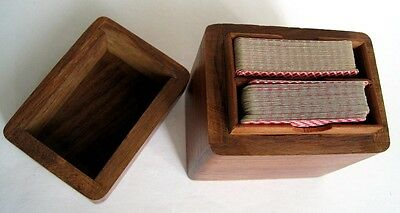 Playing Cards Horseshoe Hotel Bally's Grand Casino Drilled Wooden Box 2 Decks