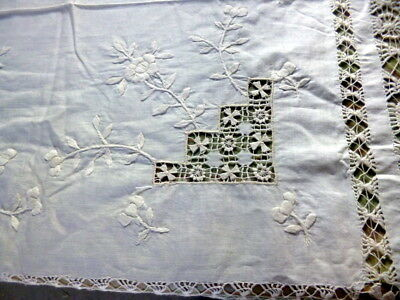LOVELY Vintage Embroidered TABLECLOTH