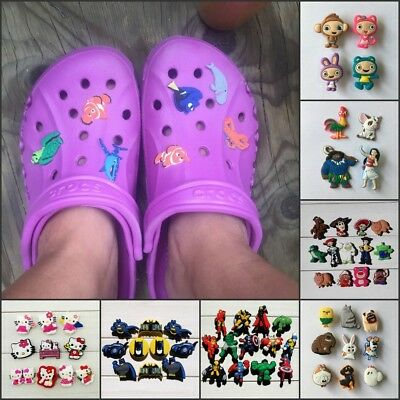 50-100PCS Hot Cartoon PVC Shoe Charms Accessories fit in Shoes & Bracelets