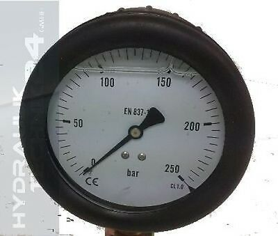Hydraulic Pressure Gauge Glycerol Stainless Steel Eco-Line 0- 1 Bar with