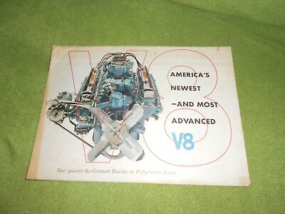 AUTO   1953 Buick V-8 Sales Brochure - Vintage - America's Newest Most Advanced