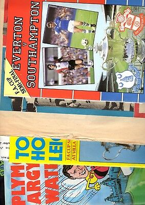5 x ENGLISH FA CUP SEMI-FINALS 1976, 1981, 1982 & 1984 Listed 2