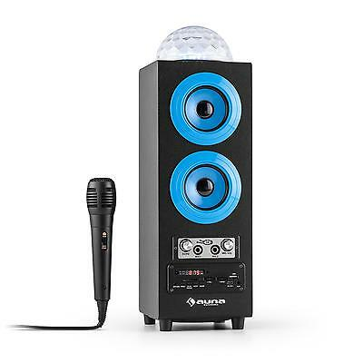 Bluetooth Lautsprecher Wireless Speaker Standlautsprecher Karaoke Mikrofon LED